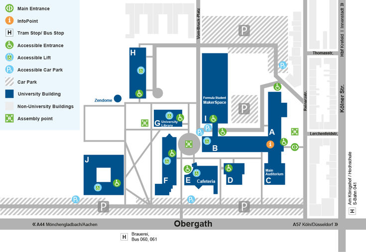 Map Campus Krefeld South