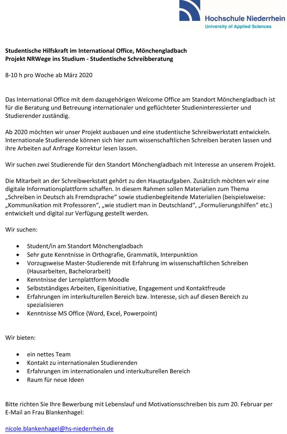 hochschule niederrhein email