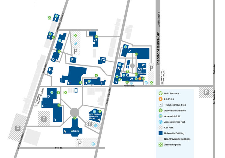 Map Campus Mönchengladbach