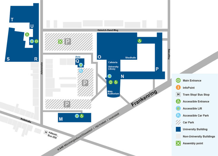 Map Campus Krefeld